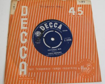"Chris Andrews YESTERDAY MAN 1965 UK 7"" EX+ AUDIO"